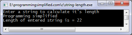 String length program