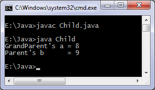 Java constructor chaining program example