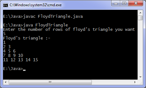 Floyd triangle program