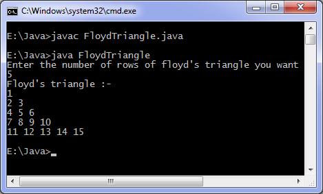 Java program to print Floyd's triangle | Programming ...