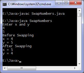 swap numbers